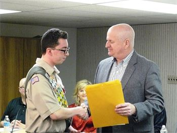 Proclamation for Eagle Scout Wiley Carr