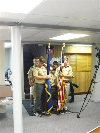 Scout Troop 820 Presents Colors
