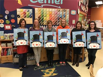 Adult Painting Party at Color Me Mine on November 13, 2016